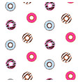 seamless pattern with glazed donuts cute sweet vector image vector image