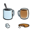 set of hot drinks icons vector image vector image
