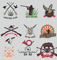 Set of the hunting labels and badges vector image vector image