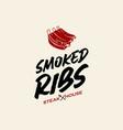 Simple ribs barbecue logo