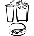 simple with fast food vector image vector image