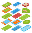 sport fields isometric set vector image vector image