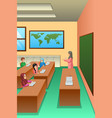 students in classroom vector image vector image