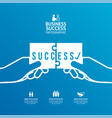 success jigsaw flat line infographic concept vector image