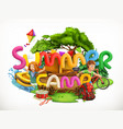 summer camp camping and adventure summer holiday vector image vector image