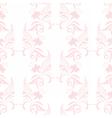 Vintage floral pattern in pink color vector image