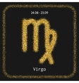 Virgo Zodiac sign of gold glitter Symbol for vector image