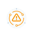 warning alert icon vector image