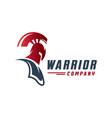 warrior head logo design vector image vector image