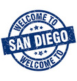 welcome to san diego blue stamp vector image vector image