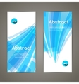 Set of blue lines and geometric banners for modern vector image