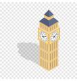 big ben isometric icon vector image