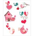 Bird love vector image