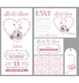 Wedding invitationBride onretro bikePink decor vector image