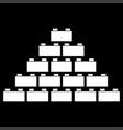 building block white color icon vector image