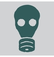 Isolated gas mask grunge vector image