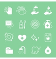 Hygiene and cleaning icons set Hand wash soap