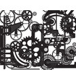 abstract art gears mechanism automated machinery vector image