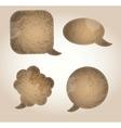 aged paper speech bubbles vector image