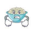angry rice bowl mascot cartoon vector image
