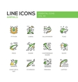 Animals - line design icons set vector image vector image