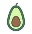 avocado line icon fruit and tropical vector image vector image