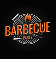 barbecue grill logo on black background vector image