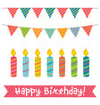 birthday candles and decoration vector image vector image