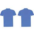 blue polo t shirt vector image vector image