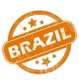Brazil grunge icon vector image vector image