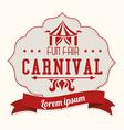 Carnival design over white background vector image