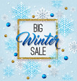 christmas background for winter sale vector image vector image