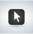 click cursor symbol over application button vector image vector image
