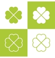 Clover with four leaves vector image vector image