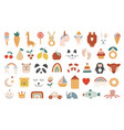collection baby icons vector image