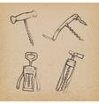 collection retro corkscrews vector image