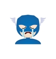 Costume Facial Expression vector image