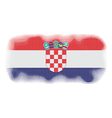 Croatia flag halftone vector image vector image