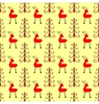Deer in the forest seamless pattern vector image