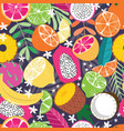 fruit seamless pattern collection exotic fruit vector image vector image