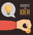 Funding design vector image vector image