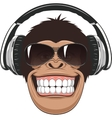 Funny monkey with glasses vector image vector image