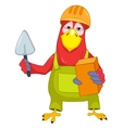 Funny Parrot Violinist vector image vector image