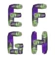 Geometric crystal alphabet vector image vector image