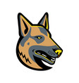 german shepherd dog mascot vector image vector image