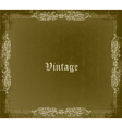 grunge vintage frame vector image vector image