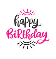 happy birthday to you poster template vector image