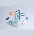 healthcare mobile application online medical vector image
