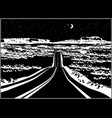 highway at night vector image vector image