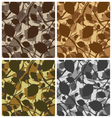 Leaves pattern camouflage set vector image